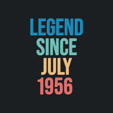 Legend Since July 1956 - Retro...