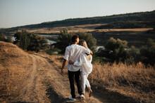Happy Couple In Love Walking T...