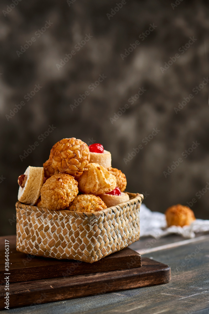 Fototapeta panellets, typical confection of Catalonia, Spain