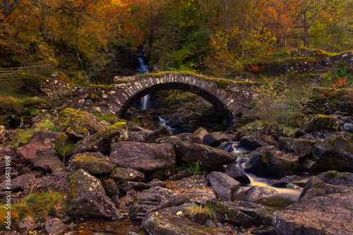 The roman bridge in Glen Lyon, Perthshire, Scotland.
