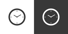 Time Clock. Isolated Icon On B...
