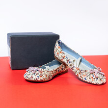 Patterned Woman Jelly Kitten Shoes Isolated