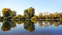 The River Bank In Autumn, Over...