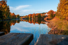 Autumn Forest Lake Water Refle...