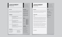 Resume And Cover Letter Layout...