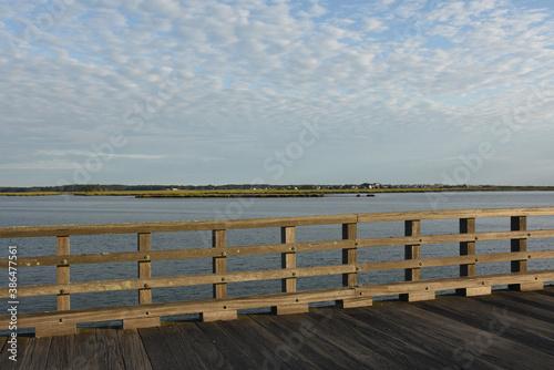 Scenic Views from Bridge Over Bay in Massachusetts Wallpaper Mural