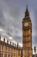 A shot of Big Ben with a very cloudy sky