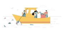 Ocean Clean Up. Volunteers Cle...