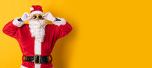 Santa Claus Isolated On Color Background
