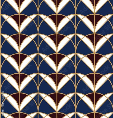 Tapety Art Deco  geometryczny-wzor-z-kwiatowymi-elementami-art-deco