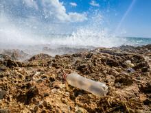 Plastic Waste On The Beach, Pl...