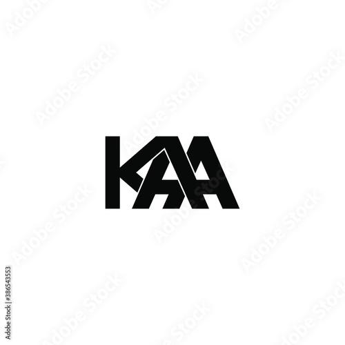 kaa letter original monogram logo design Wallpaper Mural