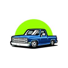 Classic Retro Pickup Truck Vec...
