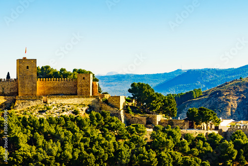 The Alcazaba fortress in Antequera, Spain. Wallpaper Mural