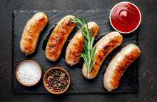 Grilled Sausages With Spices O...