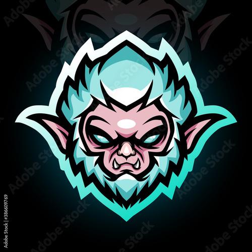 Tablou Canvas Yeti head mascot. esport logo design
