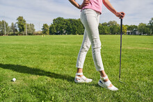 Professional Lady Golfer Ready...