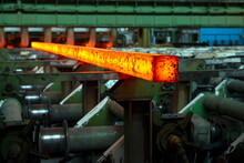Steel Production In Electric Furnaces. Sparks Of Molten Steel. Electric Arc Furnace Shop . Metallurgical Production, Heavy Industry, Engineering, Steelmaking
