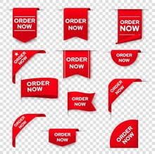 Order Now Red Ribbon, Bookmark...
