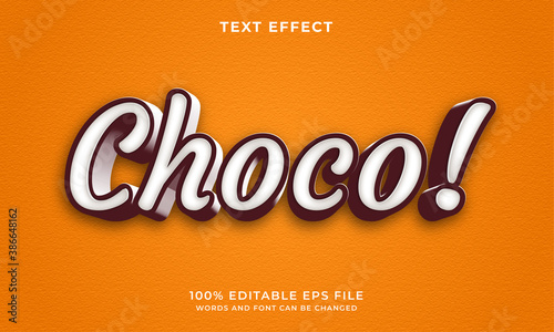 Leinwand Poster Choco text style - Editable text effect