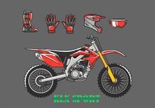 Dirt Bike Set Free Vector