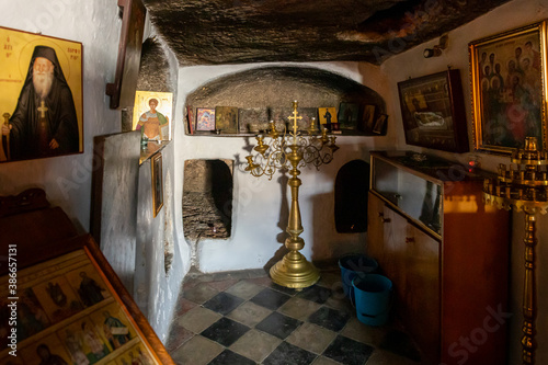 The interior of the Greek Akeldama Monastery in the old city of Jerusalem in Isr Fototapet
