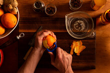 Peeling An Orange For A Mulled...
