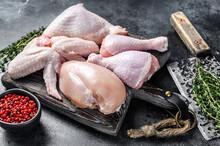 Fresh Raw Chicken Meat, Wings,...