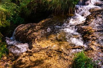 Gostilje waterfall at Zlatibor mountain in Serbia