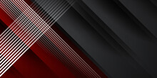 Abstract Red Black Background With 3D Overlap Layers. Vector Illustration Design For Presentation, Banner, Cover, Web, Flyer, Card, Poster, Game, Texture, Slide, Magazine, And Powerpoint.