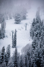 Skiing At Deer Valley, Utah, Near Salt Lake City During Winter.