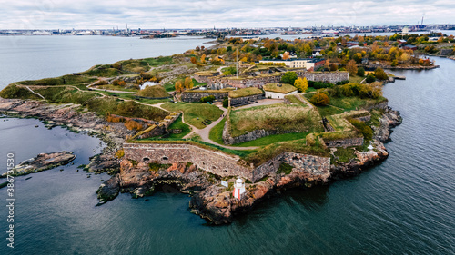 Fotografie, Tablou Suomenlinna fortress in Helsinki, Finland