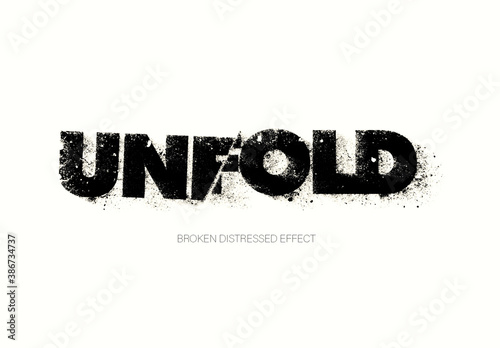 Distressed Text Effect