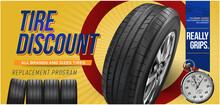Tire Car Advertisement Poster....