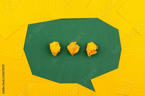 yellow typing text interpretation