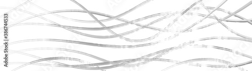 Papel de parede Abstract background of wavy intertwining lines, gray on white