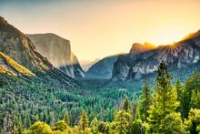 Illuminated Yosemite Valley Vi...