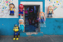 Pinata Store With Different Do...
