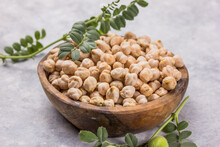 Dry Chickpeas Or Garbanzo Bean...