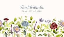 Beautiful Flower Garden Waterc...