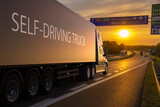 Fototapeta Do pokoju - American truck in autonomous driving version