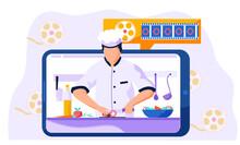 Professional Chef Slices Papri...