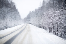 First Snow, Road After Snowfal...