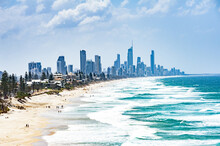 Gold Coast City With Surfer Pa...