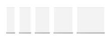 Set Of Roll-up Banner Mockups Isolated On White Background. Blank Vertical Roll Up Posters For Exhibition In Different Sizes. Vector Illustration