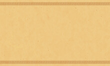 Antique Papyrus Paper With Greek Ornaments. Marble Background.