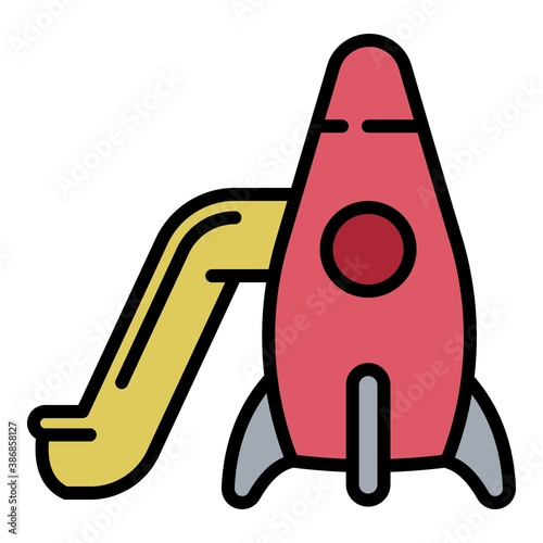 Photo Rocket kid slide icon