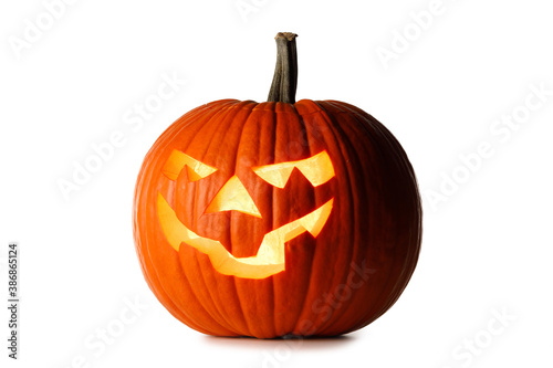 Obraz Halloween Pumpkin isolated on white - fototapety do salonu