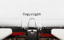 Text Copyright Typed On Retro Typewriter