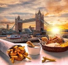 Tower Bridge Against Fish And ...